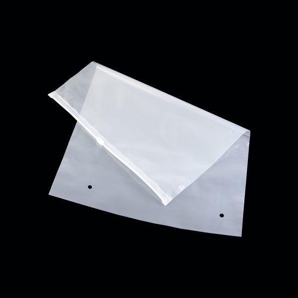 Túi Zipper miệng kéo trắng